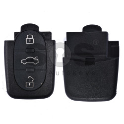 Key Shell (Back Part - Flip) for VAG Buttons: 3+1 Panic  / Blade signature: HU66 / Battery: 1620 / (Round)