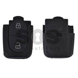 Key Shell (Back Part - Flip) for VAG Buttons: 2+1 Panic / Blade signature: HU66 / Battery: 2032 / (Round)