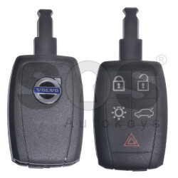 Key Shell (Smart) for Volvo Buttons:4+1P / Blade signature: HU101 / (With Logo) / (Newer Shape)