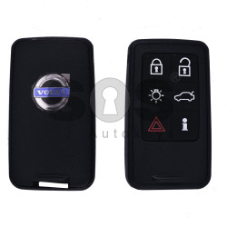 Key Shell (Smart) for Volvo Buttons:6 / Blade signature: HU101 / (With Logo)